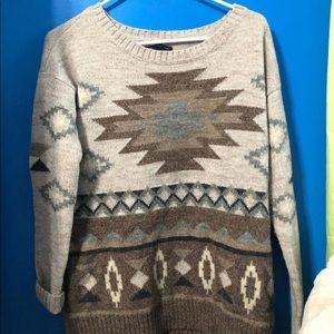 XS American Eagle Tribal Sweater